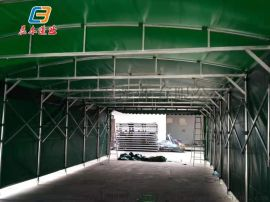 广州从化移动推拉雨棚遮阳雨篷户外 大型仓库雨蓬