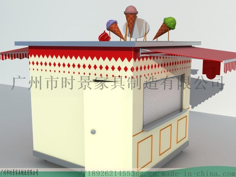 网红移动地摊车-创意可爱餐饮景区流动售 车
