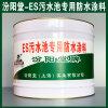ES污水池专用防水涂料、生产销售、涂膜坚韧