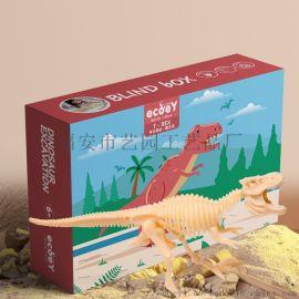 ecoey恐龙考古科普挖掘教育化石玩具