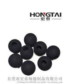 EVA  球钻孔  头黑色健身筋膜 球