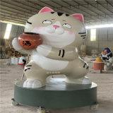 广州玻璃钢吉祥物雕塑 店铺开业招财猫雕塑摆设