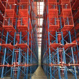 窄巷道重型货架,仓库15米窄巷式高位货架,能达仓储