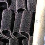 浙江黑绒布包辊带厂家 经编机用黑刺皮