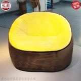 布藝皮革休閒椅單人沙發 簡約現代定製