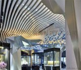 鋁格柵天花吊頂U型鋁方通木紋弧形鋁方通