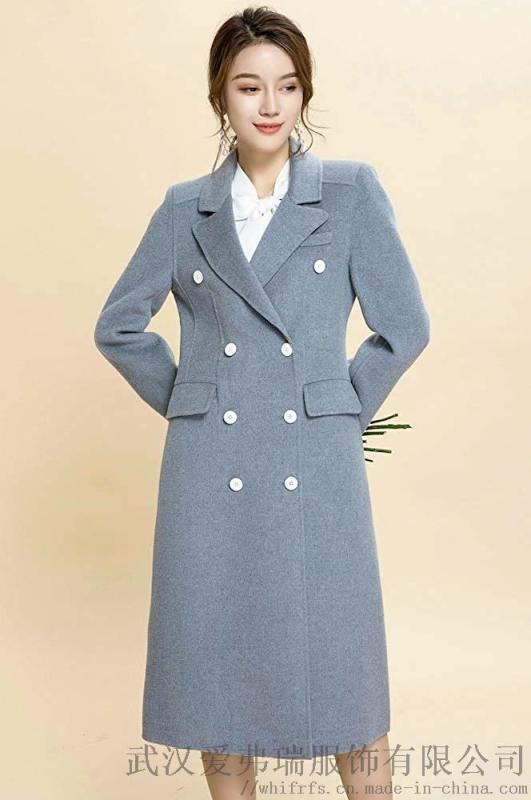 包头服装进货季诗雨素色双面羊毛羊绒大衣毛呢