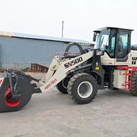 混凝土自卸搅拌铲车厂家 0.5吨水泥运输搅拌