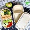 一次性可降解食具,可降解餐盒,秸稈紙漿餐盒