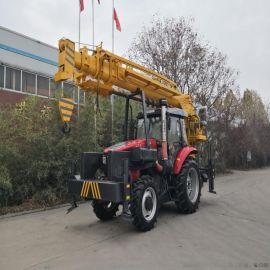 拖拉机吊车价格 电线杆打桩机 6吨拖拉机吊车参数