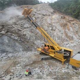 堤坝护坡打桩机 小型液压锚固钻机 履带护坡打桩机