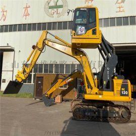 山推220挖掘机驾驶室升降改装 挖掘机改装