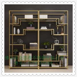 201/304不鏽鋼多層展示架,博古架,不鏽鋼書架