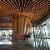 山百草園燈籠包柱鋁方通 入口仿木紋燈柱弧形鋁方管