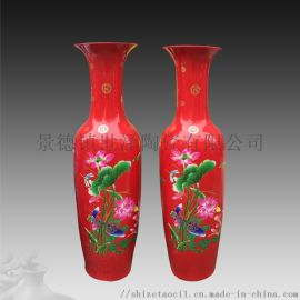 客厅落地陶瓷大花瓶-青花瓷花瓶1.6米生产厂家