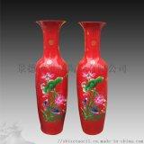 客廳落地陶瓷大花瓶-青花瓷花瓶1.6米生產廠家