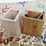 廠家直銷竹木質桌面辦公收納竹木筆筒