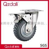重型不锈钢灰色风火轮脚轮