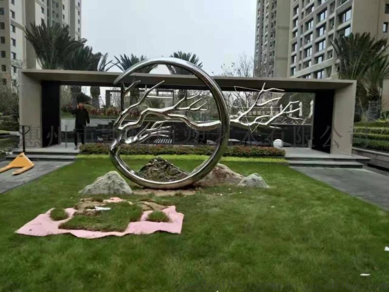 不锈钢雕塑-户外雕塑