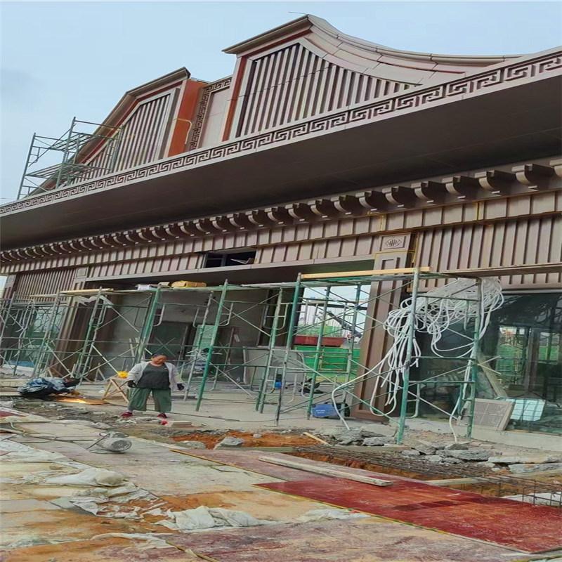 南国中式飞檐铝合金斗拱 苏州园林复古屋檐斗拱