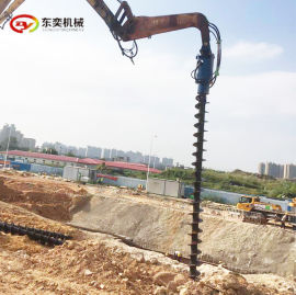 小挖机土钻 旋挖钻液压螺旋钻孔机厂家