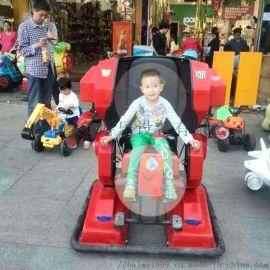 江苏南通广场直立行走机器人电动车外观威武霸气