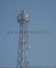 公路落地角钢监测塔、观光监控塔、防腐检测塔
