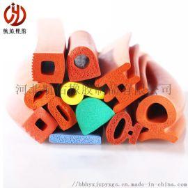 供应硅胶耐高温密封条  发泡硅胶密封条