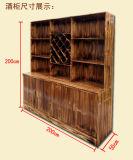 酒柜吧台 小吃店快餐桌子  碳化木火锅桌椅