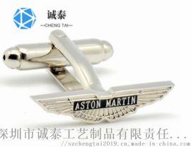 深圳纯铜烤漆袖扣,企业LOGO袖扣生产