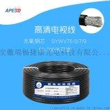 APESD高清純銅有線電視線閉路線SYWV75-5/7/9四遮罩機頂盒衛星電