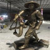 佛山玻璃钢人物雕塑农耕文化主题雕塑