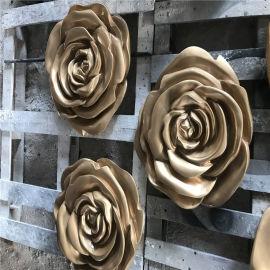 佛山玻璃钢玫瑰花造型雕塑室内玻璃钢装饰雕塑