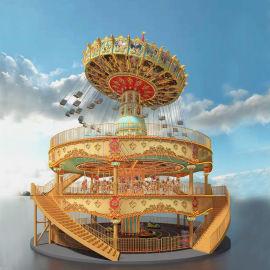 旋转类大型游乐设备豪华转马摇头飞椅碰碰車游乐设施