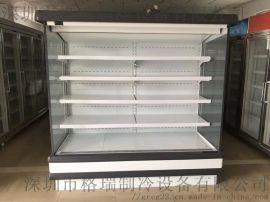 风幕柜立式水果蔬菜保鲜展示柜 饮料酸奶冷藏柜