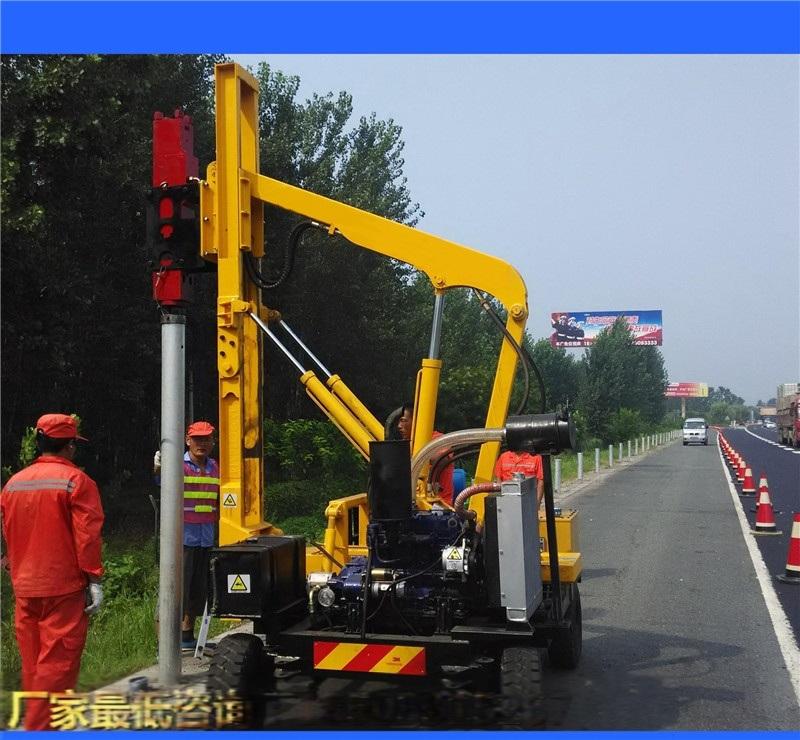 波形樑護欄打樁機/高速公路打樁機