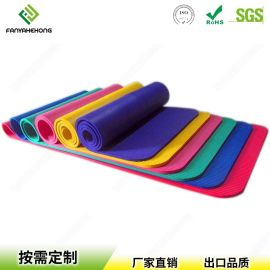 定制顏色防滑環保無味成人EVA/NBR戶外健身瑜伽墊