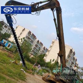 市政工程建设挖机螺旋钻 光伏电线杆坑钻孔