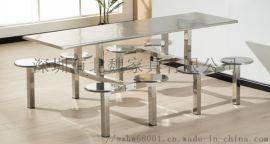 201/304不鏽鋼四人位餐桌椅廠家