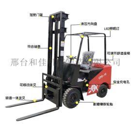 小型电动叉车1吨座驾式四轮1.5吨2吨电瓶叉车
