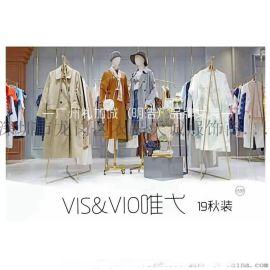上海一線設計師品牌唯弋春折扣女裝直播貨源找廣州明浩