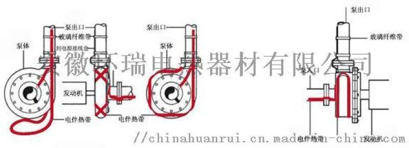 电伴热带应用于泵体冬季防冻保温