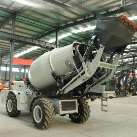 5方新型自上料混泥土搅拌车 小型移动搅拌站