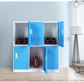 彩色小门学校书包柜彩色小六门储物柜钢制小九门收纳柜
