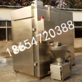 高产量台烤蒸煮一体全自动烟熏炉-哈红肠加工设备