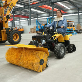 小型汽油清扫雪机铲雪车 多功能三合一除雪车