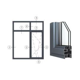 廣東興發鋁材創高AL6524A B系列內開內倒窗