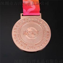 运动会金属学生**蝶泳幼儿园儿童游泳**奖牌奖章