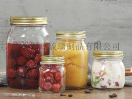 蜂蜜瓶八角瓶玻璃瓶密封罐储物罐酱菜瓶燕窝瓶罐头瓶