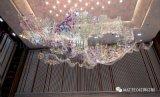 苏州展厅 大型  彩色方块灯饰  玻璃